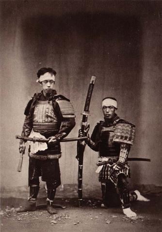 Samouraïs en tenue de combat