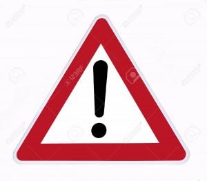 11296851-signal-de-danger-sur-un-fond-blanc-Banque-d'images