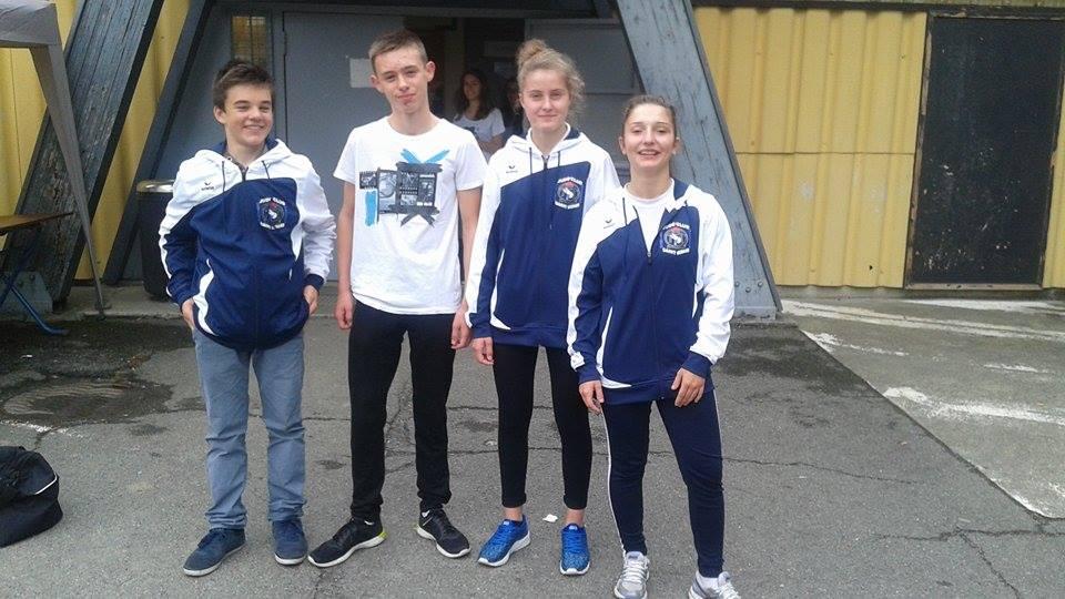 De gauche à droite : Mathéo, Lucas, Camille, Shana.